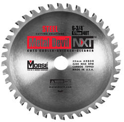 "6-3/4"" x 40 Tooth 20 mm Arbor Circular Blade for Steel"