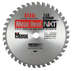"7-1/4"" x 40 Tooth 5/8"" KO Arbor Circular Blade for Steel"