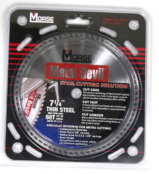 "7-1/4"" x 68 Tooth 5/8"" KO Arbor Circular Blade for Thin Steel"