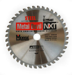 "7"" x 40 Tooth 20 mm Arbor Circular Blade for Steel"