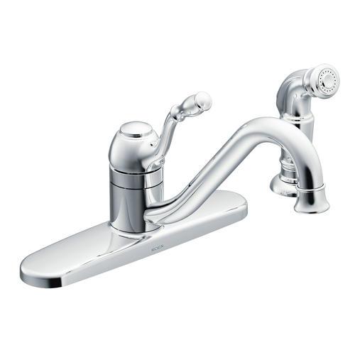 moen lindley single handle low arc kitchen faucet at menards 174 moen lindley single handle pull down sprayer kitchen