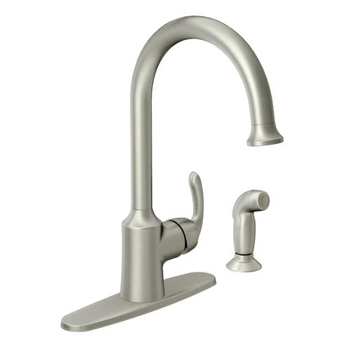 Moen Bayhill Single Handle High Arc Kitchen Faucet at Menards