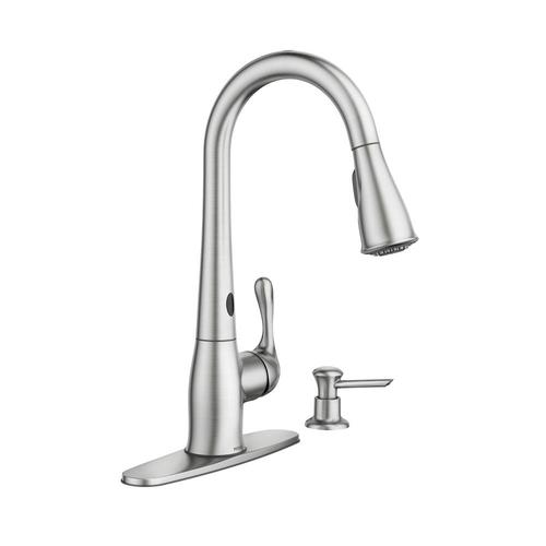 Moen Ridgedale Single Handle Kitchen Pulldown Faucet Featuring Motionsense At Menards
