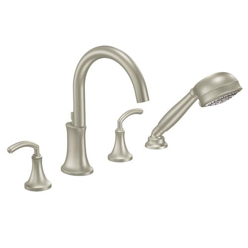 Moen Icon 2 Handle High Arc Roman Tub Faucet Includes Hand Shower TRIM ONLY A
