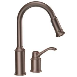 Moen Aberdeen Single Handle High Arc Pulldown Kitchen Faucet