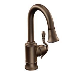 Moen Woodmere High Arc Pulldown Single Mount Bar Faucet