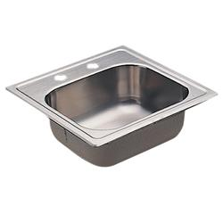 Moen 20 Gauge Single Bowl 15 X 15 Drop-In Stainless Steel 2-Hole Kitchen Sink