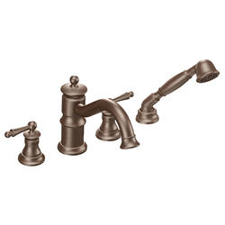 Moen Waterhill 2-Handle Roman Tub Faucet Includes Hand Shower TRIM ONLY