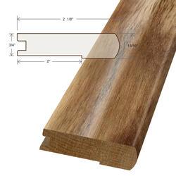"Moldings Online Acacia Stair Nose Hardwood Trim 48"""