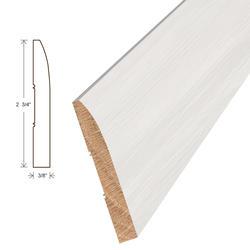 "Moldings Online White Primed Ranch Wall Base Hardwood Trim 2 3/4"" x 7/16"""