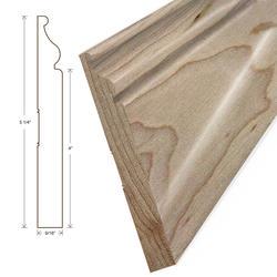 "Moldings Online Princeton Elite Wall Base Hardwood Trim 5 1/4"" x 5/8"""