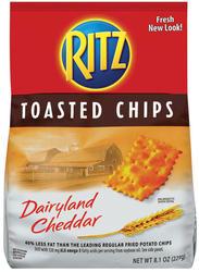 Ritz® Dairyland Cheddar Toasted Chips - 8.1 oz.