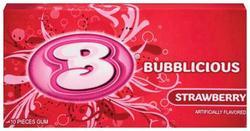 Bubblicious® Strawberry Gum - 10 pc.