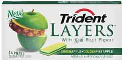Trident Layers® Green Apple and Golden Pineapple Gum - 14 pc.