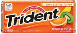 Trident® Tropical Twist® Gum - 18 pc.