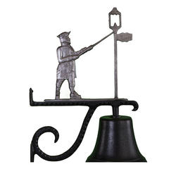 Cast Bell with Lamplighter Ornament (Swedish Iron)