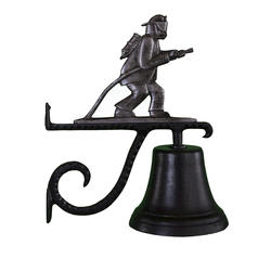 Cast Bell with Fireman Ornament (Swedish Iron)