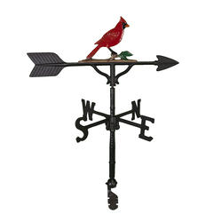"32"" Weathervane - Cardinal Ornament (Natural Color)"
