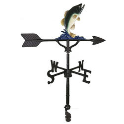 "32"" Weathervane - Bass Ornament (Natural Color)"