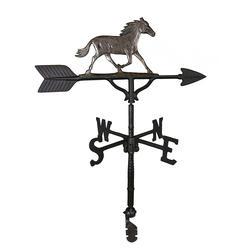 "32"" Weathervane - Horse Ornament (Swedish Iron)"