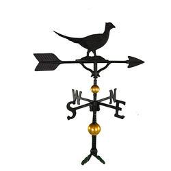 "32"" Deluxe Weathervane - Pheasant Ornament (Satin Black)"