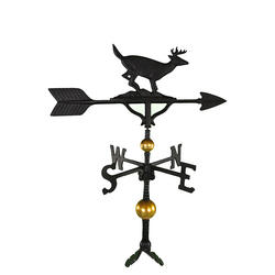 "32"" Deluxe Weathervane - Buck Ornament (Satin Black)"