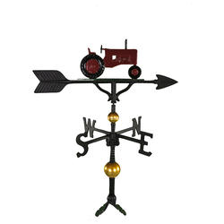 """32"""" Deluxe Weathervane - Tractor Ornament (Red)"""