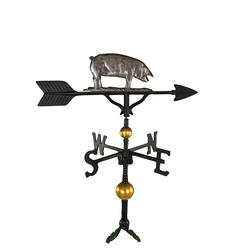 "32"" Deluxe Weathervane - Pig Ornament (Swedish Iron)"