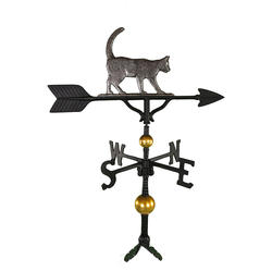 "32"" Deluxe Weathervane - Cat Ornament (Swedish Iron)"