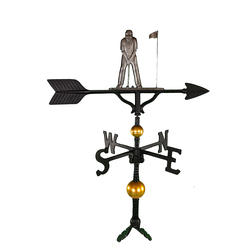 "32"" Deluxe Weathervane - Putter Ornament (Swedish Iron)"
