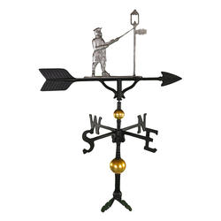 "32"" Deluxe Weathervane - Lamplighter Ornament (Swedish Iron)"