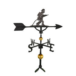 "32"" Deluxe Weathervane - Firefighter Ornament (Swedish Iron)"