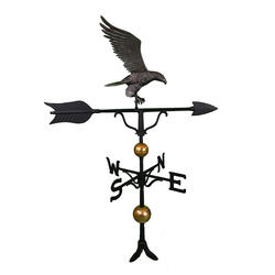 "52"" Deluxe Weathervane - Eagle Ornament (Swedish Iron)"