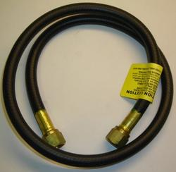 "Mr. Heater 3' Hose (1/4 ID 3' L 3/8 Female Flare 3/8 Female Flare) connects an existing gas line to appliances equipped with 3/8"" male flare."