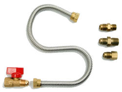 "Mr. Heater 22"" One-Stop Universal Gas Appliance Hook Up Kit for gas appliances. Typical applications include: gas logs, invented wall mount heaters, gas stoves and garage heaters."