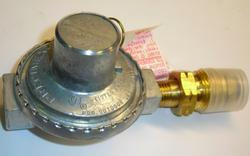 Mr. Heater Propane Low Pressure Regulator ideal for use on portable heaters, hot plates, camp stoves and other propane appliances that require 75,000 BTU/Hr. or less.