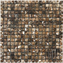 "Tumbled Stone Marble Floor or Wall Mosaic Tile 5/8"" x 5/8"" (10 sq.ft/pkg)"