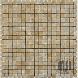 """Polished Travertine Floor or Wall Mosaic Tile 5/8"""" x 5/8"""" (10 sq.ft/pkg)"""