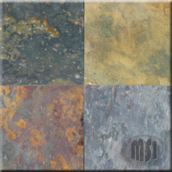 "Gauged Slate Floor or Wall Tile 12"" x 12"""