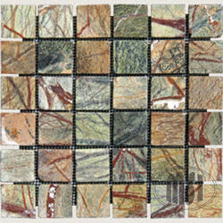 """Tumbled Stone Marble Floor or Wall Mosaic Tile 2"""" x 2"""" (10 sq.ft/pkg)"""