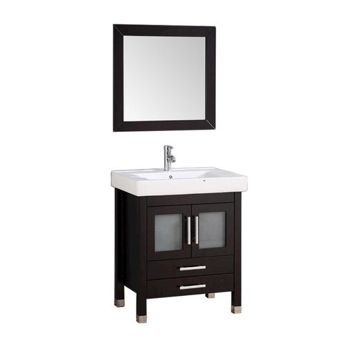 Elegant  24quot Gray Oak Modern Bathroom Vanity W Undermount Sink At Menards