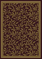 Multy Home Willow Merlot Decorative Mat 4' x 6'