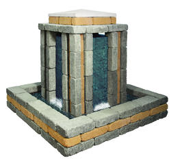 Saxon Waterwall.  Price includes landscape block and detailed plans.