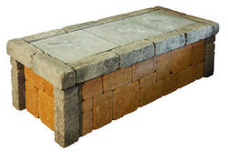 Seawall Bench 4 Feet.  Price includes landscape block and detailed plans.
