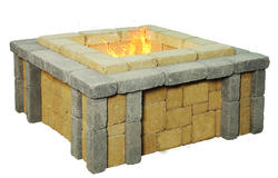 Stockton Fire Pit.  Price includes landscape block and detailed plans.