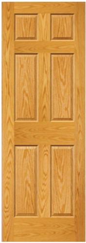Mastercraft 28 X 80 Prefinished Golden Oak Raised 6 Panel Interior Door Slab