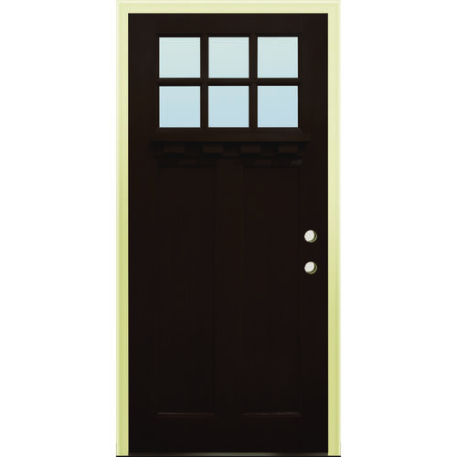 36 x 80 prefinished fiberglass prehung exterior door left i