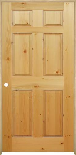 Mastercraft Knotty Pine Raised 6 Panel Prehung Interior Door At Menards
