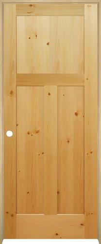 Mastercraft knotty pine flat mission 3 panel prehung - Mastercraft exterior doors reviews ...