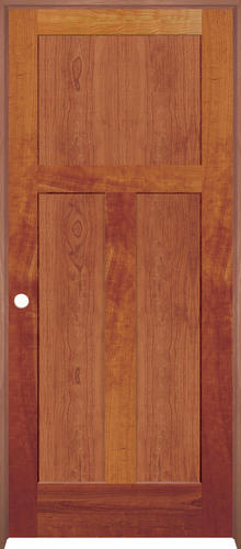 Mastercraft Cherry Flat Mission 3 Panel Prehung Interior Door At Menards